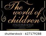 handwritten handcrafted font... | Shutterstock .eps vector #627179288