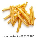 Heap Of French Fries Isolated...