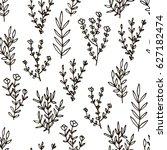 cute floral seamless pattern... | Shutterstock .eps vector #627182474