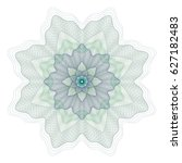 guilloche element for... | Shutterstock .eps vector #627182483