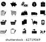 commerce and retail icons set | Shutterstock .eps vector #62719069