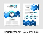 brochure template  flyer design ... | Shutterstock .eps vector #627191153