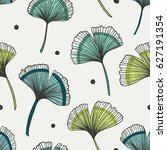 floral seamless pattern with... | Shutterstock .eps vector #627191354