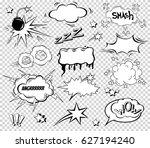 big set of cartoon  comic... | Shutterstock .eps vector #627194240