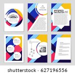 abstract vector layout... | Shutterstock .eps vector #627196556