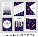abstract vector layout... | Shutterstock .eps vector #627199859