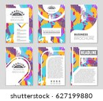 abstract vector layout... | Shutterstock .eps vector #627199880