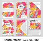 abstract vector layout... | Shutterstock .eps vector #627203780