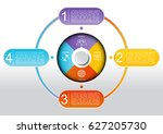 infographic circle button... | Shutterstock .eps vector #627205730