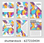 abstract vector layout... | Shutterstock .eps vector #627210434