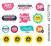 sale shopping banners. special... | Shutterstock .eps vector #627217778
