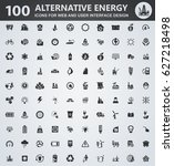 alternative energy icons for... | Shutterstock .eps vector #627218498