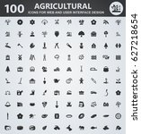 agriculture icons for web and... | Shutterstock .eps vector #627218654