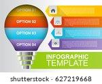 light bulb infographic template | Shutterstock .eps vector #627219668