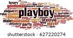 playboy word cloud concept.... | Shutterstock .eps vector #627220274