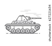 green medium tank in profile ... | Shutterstock .eps vector #627221654