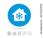 air conditioning indoors icon.... | Shutterstock .eps vector #627222593