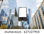 blank billboard in the business ... | Shutterstock . vector #627227903