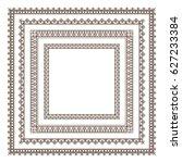set of frames | Shutterstock .eps vector #627233384