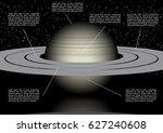 vector solar system space... | Shutterstock .eps vector #627240608