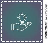 line icon  idea   Shutterstock .eps vector #627240950