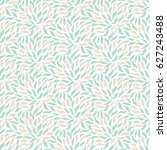 seamless pattern with leaf.... | Shutterstock .eps vector #627243488