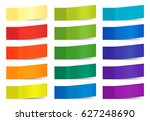 colored paper stickers for... | Shutterstock .eps vector #627248690