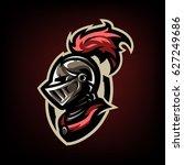 medieval warrior knight in... | Shutterstock .eps vector #627249686