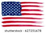 grunge american flag.... | Shutterstock .eps vector #627251678