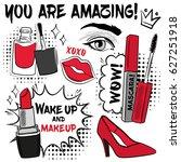 hand drawn fashion set.... | Shutterstock .eps vector #627251918