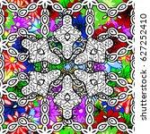 retro pattern antique style... | Shutterstock .eps vector #627252410