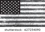 grunge usa flag.american flag... | Shutterstock .eps vector #627254090