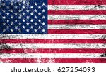 grunge usa flag.american flag... | Shutterstock .eps vector #627254093