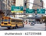 A School Bus Riding Towards Fd...