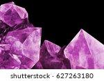 crystal stone macro mineral... | Shutterstock . vector #627263180