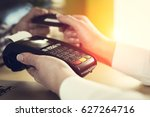 customer paying with credit card | Shutterstock . vector #627264716