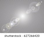 vector transparent sunlight... | Shutterstock .eps vector #627266420