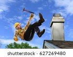 worker using hammer falling... | Shutterstock . vector #627269480