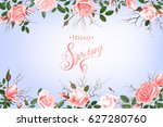 hello spring background with... | Shutterstock .eps vector #627280760