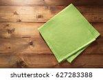 Cloth Napkin On Wooden...