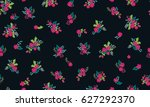 seamless random folk pattern in ... | Shutterstock .eps vector #627292370