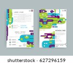cards in modern abstract style... | Shutterstock .eps vector #627296159