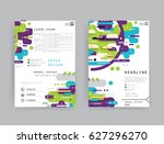 cards in modern abstract style... | Shutterstock .eps vector #627296270