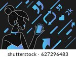 addicted people concept... | Shutterstock .eps vector #627296483