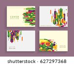 cards in modern abstract style... | Shutterstock .eps vector #627297368