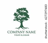 tree logo design template | Shutterstock .eps vector #627297683