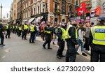 london  uk. 1st april 2017.... | Shutterstock . vector #627302090