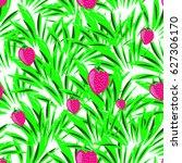 bright seamless pattern of wild ... | Shutterstock .eps vector #627306170