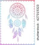 dreamcatcher in gradient ... | Shutterstock .eps vector #627315323