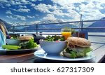 great cheesburgers with bacon...   Shutterstock . vector #627317309